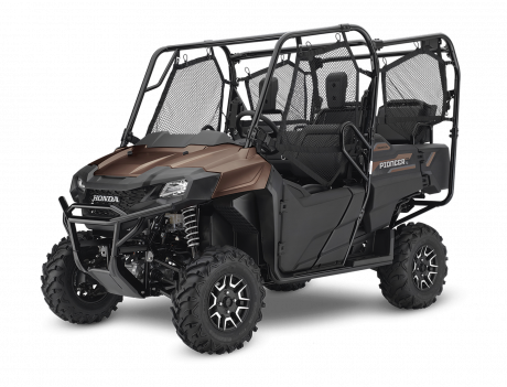2021 Honda Pioneer 700-4 Deluxe Mat Molasses Brown Metallic