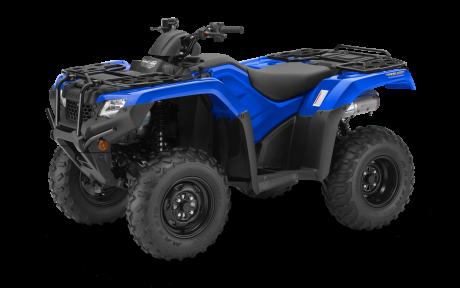 2021 Honda Rancher TRX420 DCT IRS EPS Reactor Blue